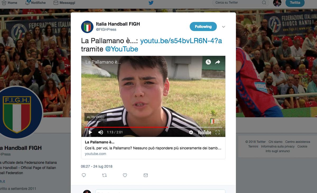Bellissimo video della Federazione Italiana Giuoco Handball.